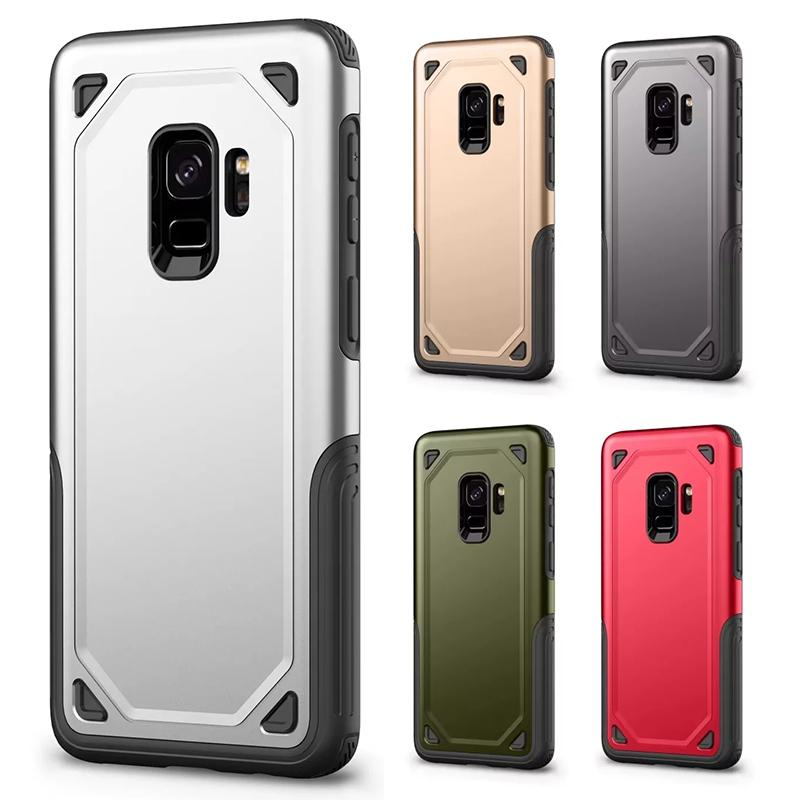newest 6d282 f656c For Samsung S9 Plus Hybrid Armor Case Soft TPU Hard PC Back Shockproof  Cover Heavy Duty for Galaxy G960