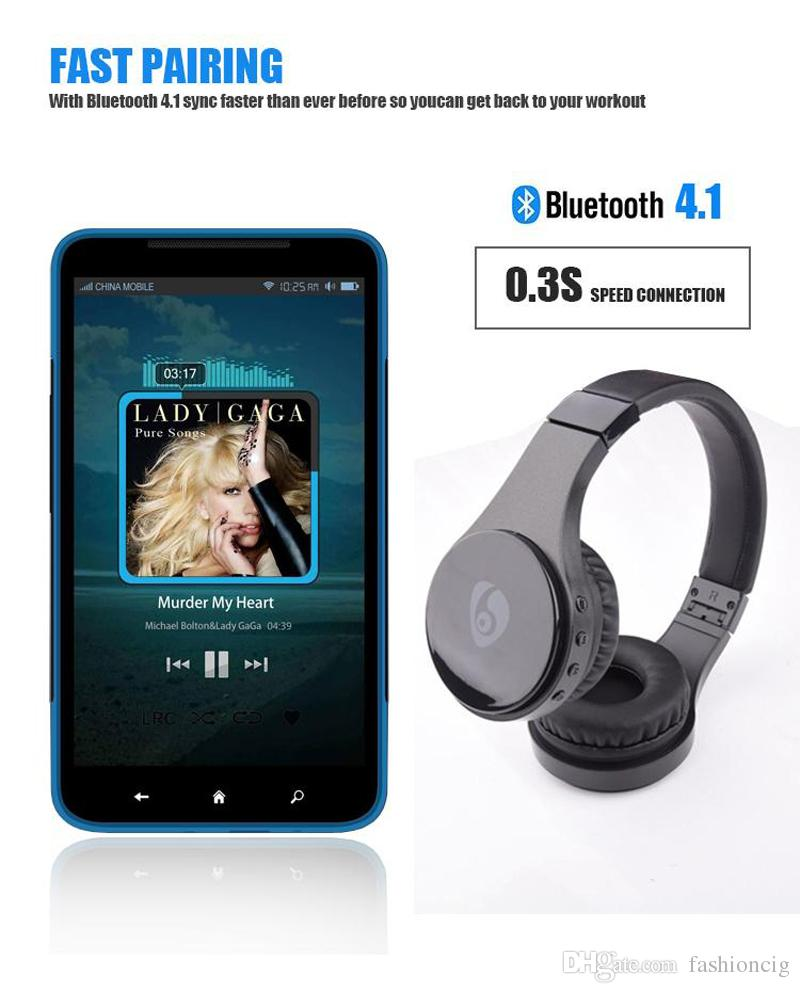 Bluetooth drahtloser Kopfhörer S55 tragender Kopfhörer mit Kopfhörer TF FM kopfmontierter faltbarer Kopfhörer mit Kleinkasten für iphone Smasung