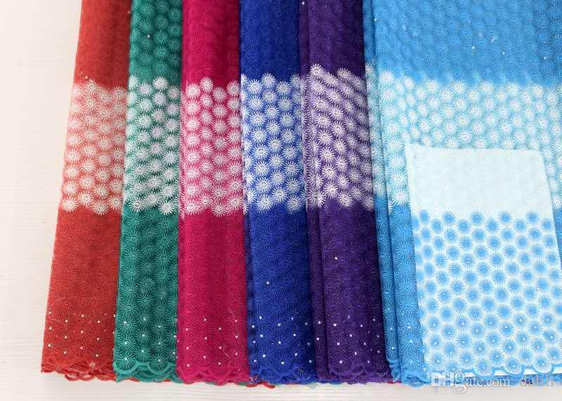 European and American African mesh embroidered polyester fabric embroidery water soluble lace 5 yards guipure lace DL-04