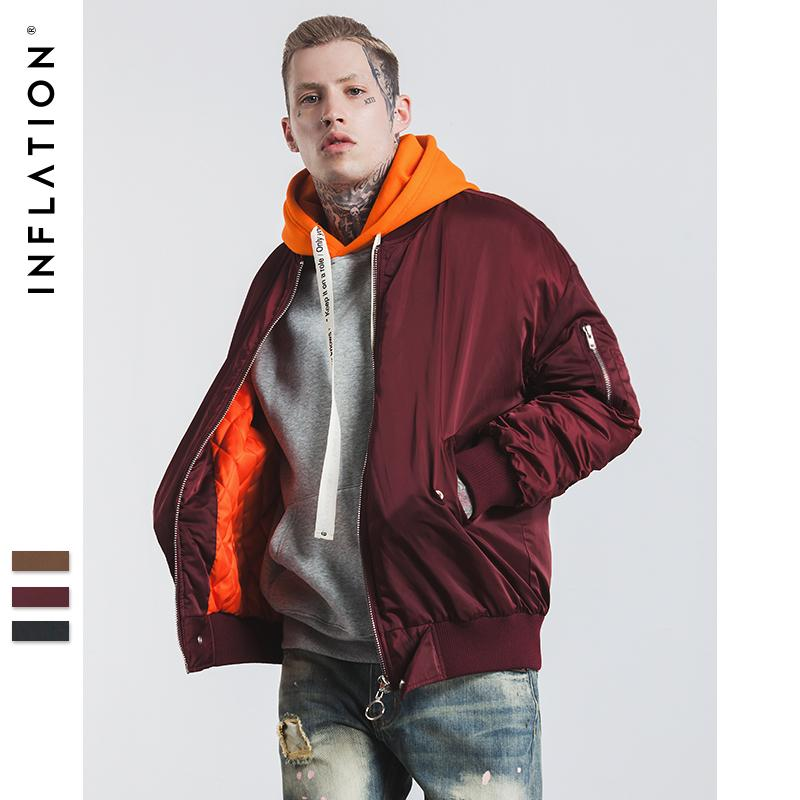 buy popular b2a59 aa2fb INFLATION 2017 Neue Ankunft Winter Bomberjacke Winter Herren MA1 Jacken  Herren Jacke Hip Hop Mäntel Streetwear 256 Watt