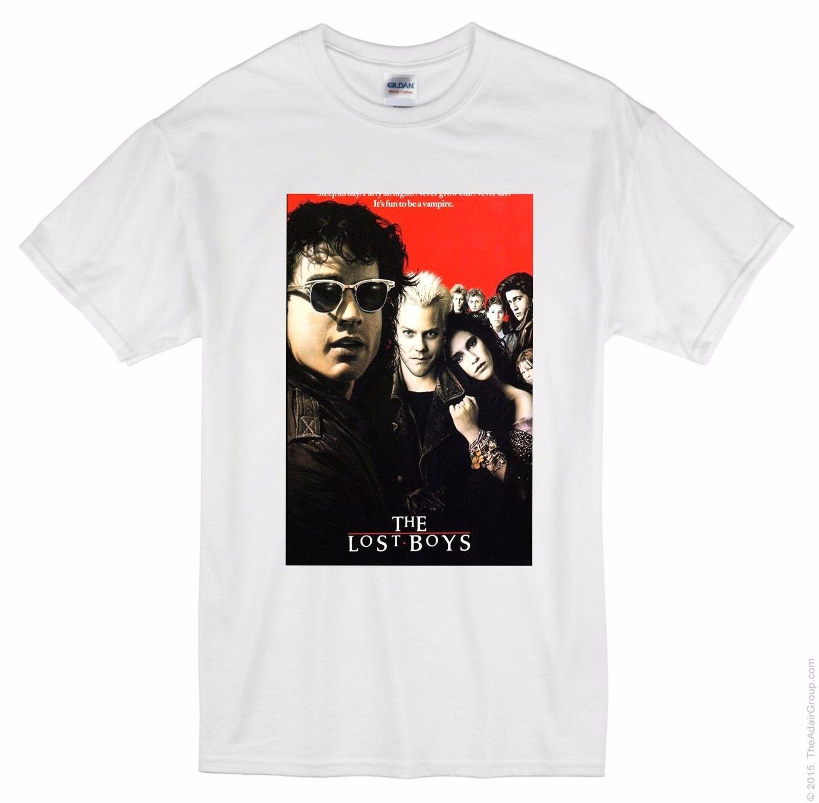 896f9fe56 THE LOST BOYS 1987 MOVIE T Shirt Film Cinema Wall Home Posters 2018 Fashion T  Shirt Fashion Style Men Tee T Shirt Printing Cool Tee Shirts Cheap Business  ...