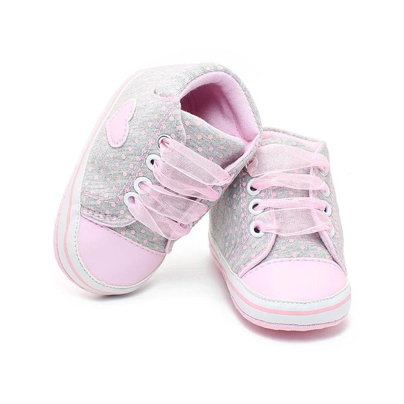 959f7868043 Compre Zapatos De Bebé Niño Niña Polka Dot Zapatos De Corazón Zapatillas  Con Cordones Zapatillas De Deporte Con Cordones Para Niños Pequeños  Zapatillas De ...