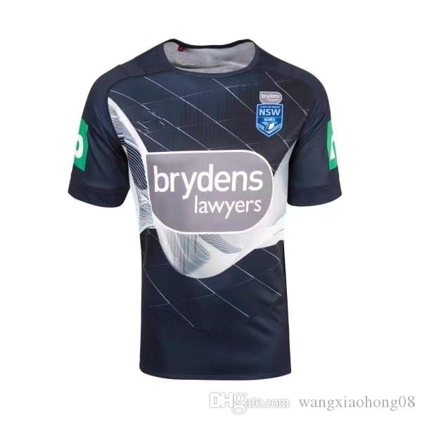 NSW STATE OF ORIGIN 2018 ELITE TRAINING TEE LIGHT BLUE 2017/2018 top quality Queensland QLD Maroons Rugby jerseys NSWRL Holden size S-XXXL