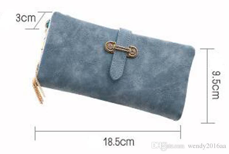 100 stücke 2018 Frauen langweilig polnisch Lange Multifaction Kupplung Brieftaschen 5 farben Haspe Mode-Design Brieftasche Für Telefon Geld Taschen Geldbörse
