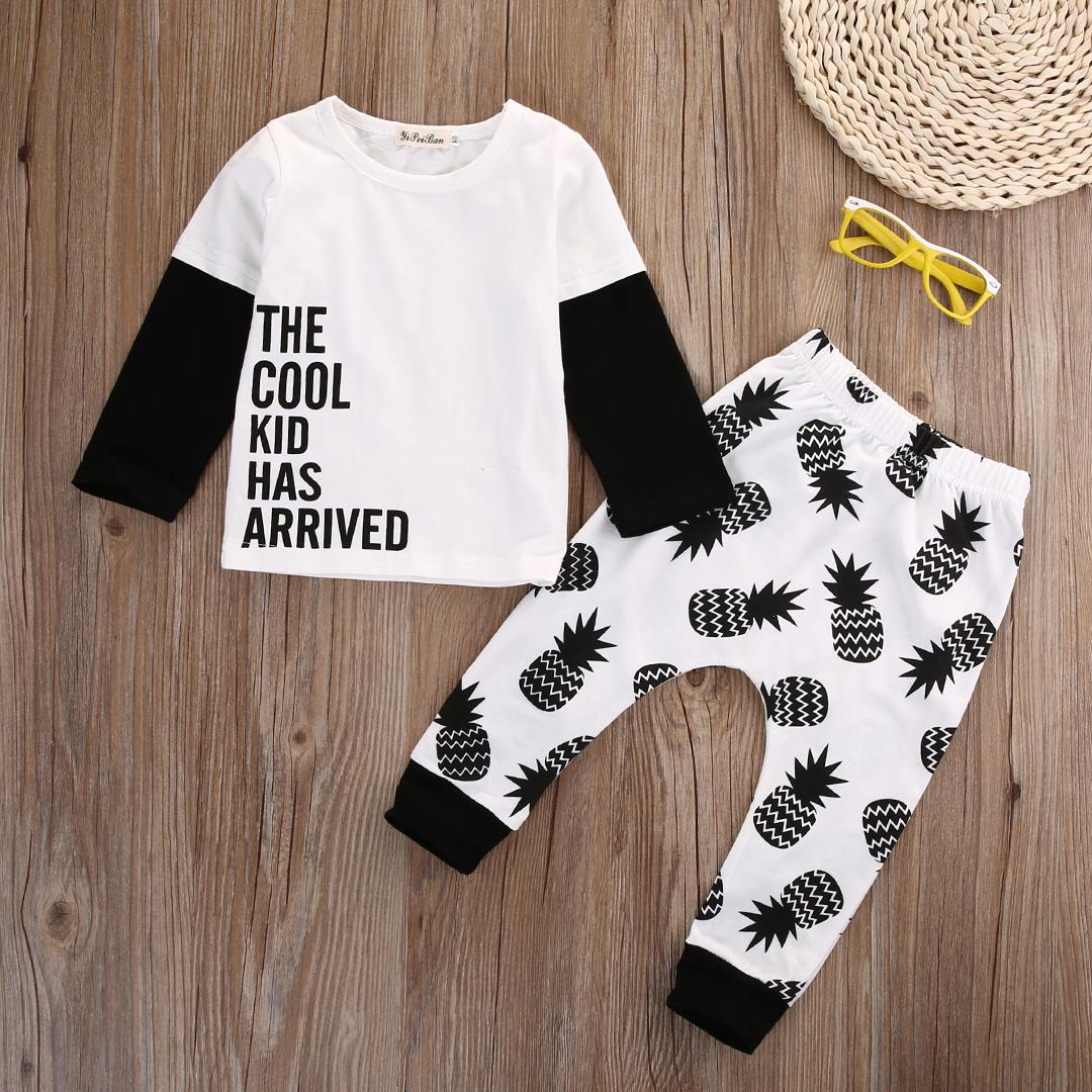 2d4beb411 2019 2016 Autumn Style Infant Clothes Baby Clothing Sets Boy Long Sleeve T  Shirt+Pineapple Pants Suit Baby Boy Clothes Newborn From Localking, ...