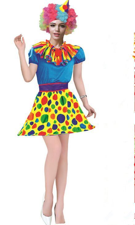 0ab3062728e Sales Women Joker Suit Halloween funny clown men costume show All saint s  Day odd Dressing up buffoon Perform Cosplay clothes and suits