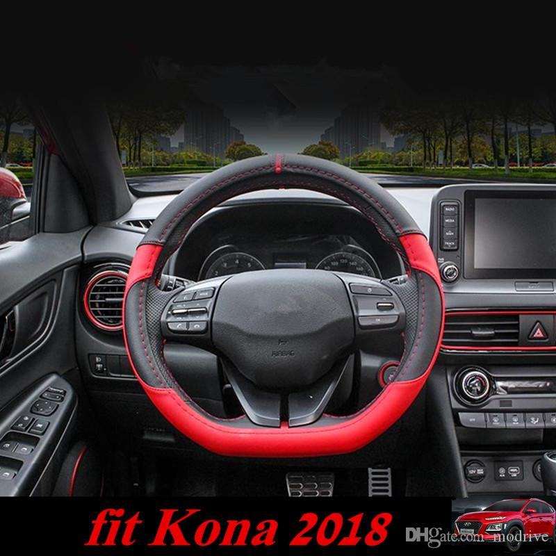 For Hyundai Kona 2018 Car Steering Cover Steering Wheel Covers Soft