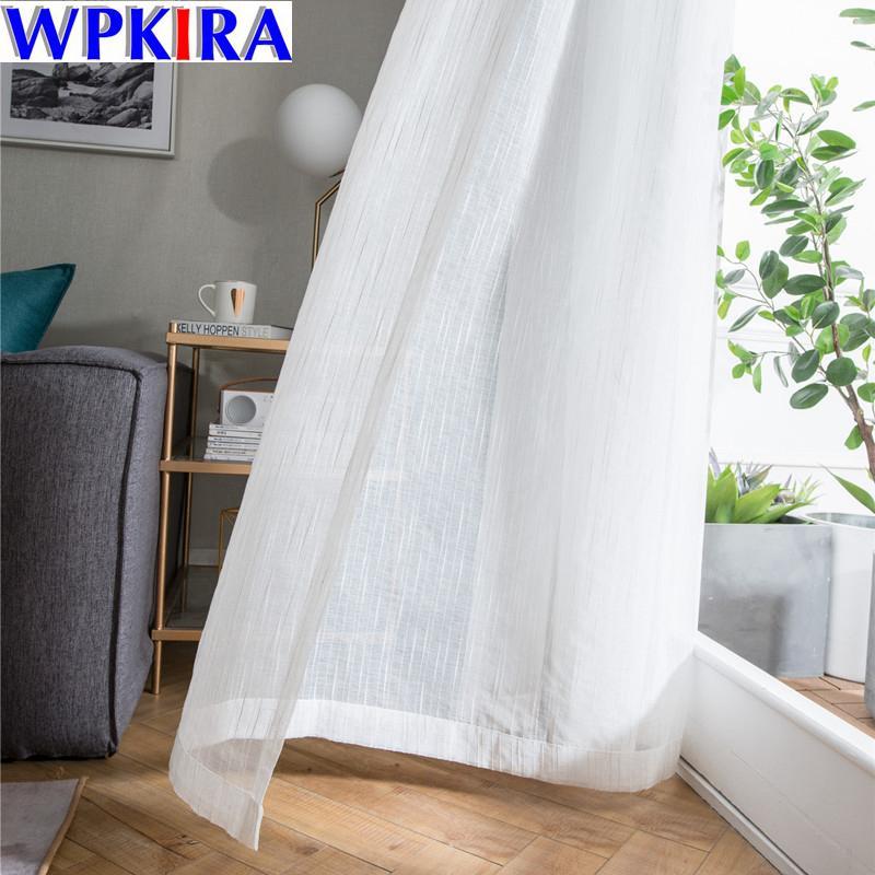 2019 White Sheer Tulle Window Curtain Cortina Para Sala Scenery ...