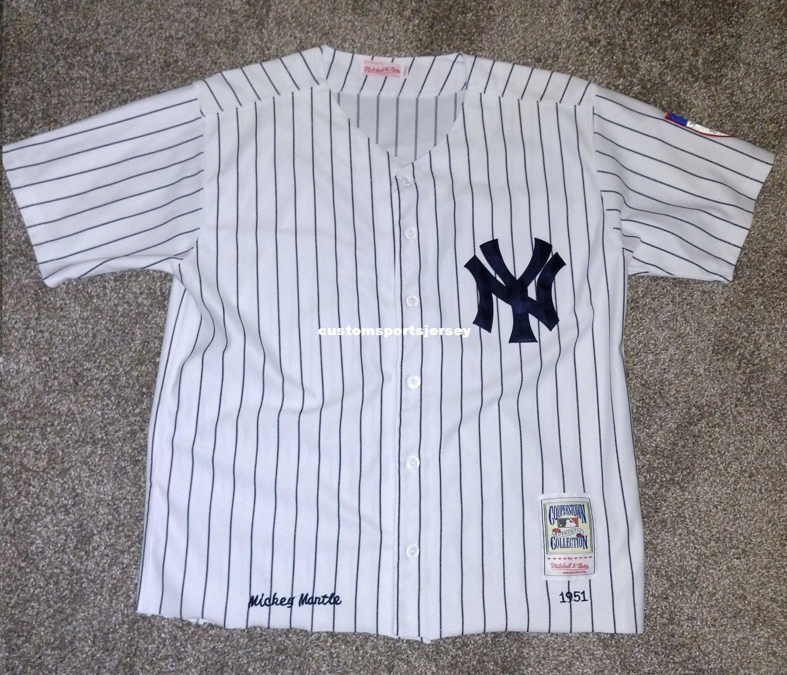 2018 Cheap 1951 Mickey Mantle Jersey Stitched Customize Any Number Name MEN  WOMEN YOUTH XS 5XL From Customsportsjersey a9ec7fe620a