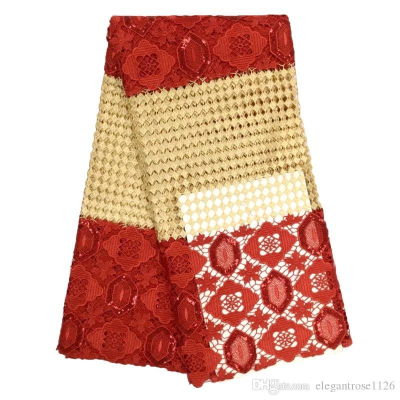 гарантия качества 5 ярдов в серии имеющиеся цветы по-разному модная водорастворимая ткань шнурка шнурка гипюра GYMW0024