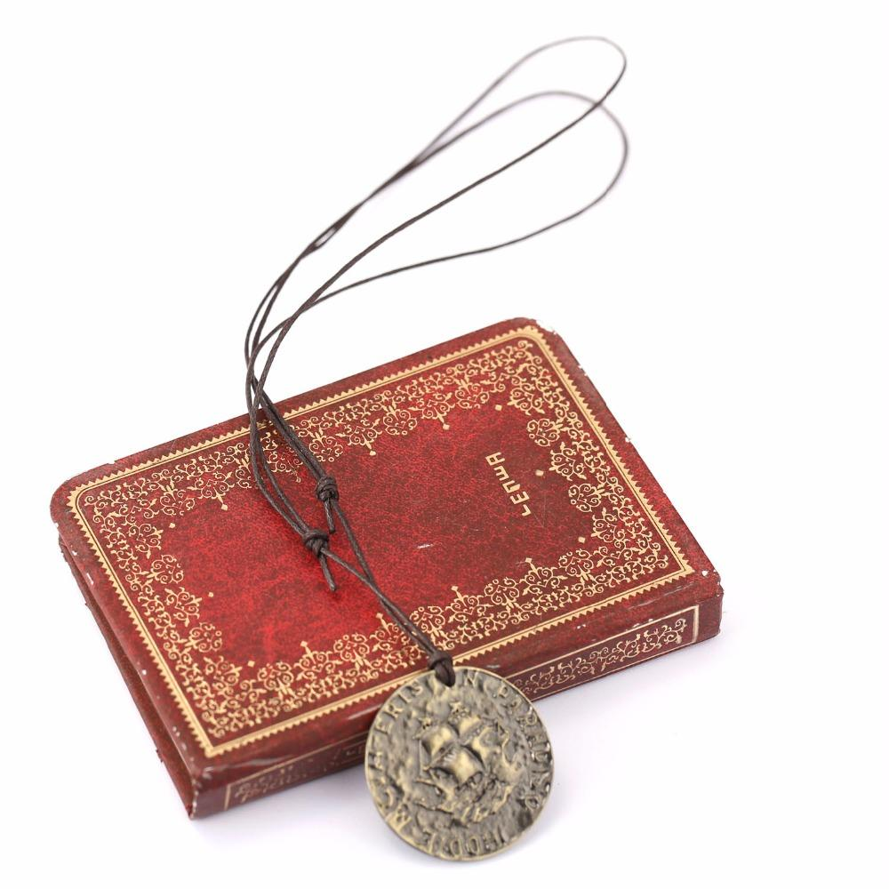 HOT!!!PS4 Uncharted 4 A Thief s End Metal Pendant Necklace Limited  Collection Pirate Gold Coin Game Pendant Metal Keychain