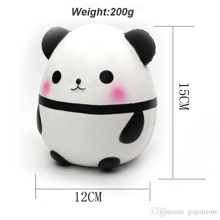 Big size Jumbo Cute Big Size Panda Egg Squishy Home Decoration Kawaii Simulation relaxation Squeeze Vent Panda Squishies