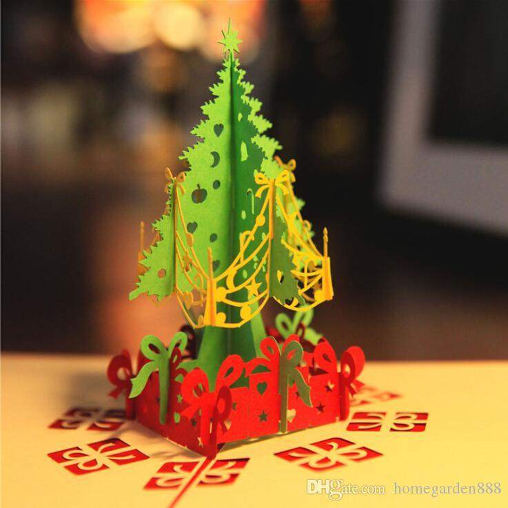 Acquista Biglietto Di Auguri Albero Di Natale Carta 3D Intaglio Cartolina  Vuota Benedizione Piccola Carta Natale Creativo Tridimensionale Cartolina Di  ... 0541f0ee5bc7