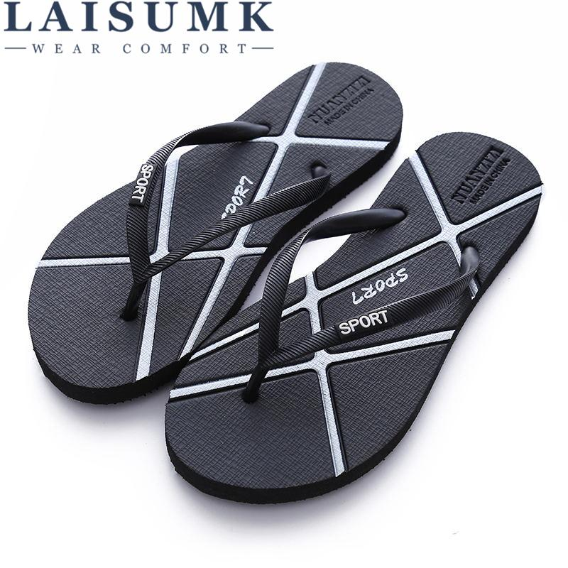 367a124e514b Wholesale Hot Sale Summer Rubber Shoes Fashion Flip Flops Men Sandals Male  Flat Beach Slippers Black Gold Silver Plus Size 35 - 46 Online with   25.03 Pair ...