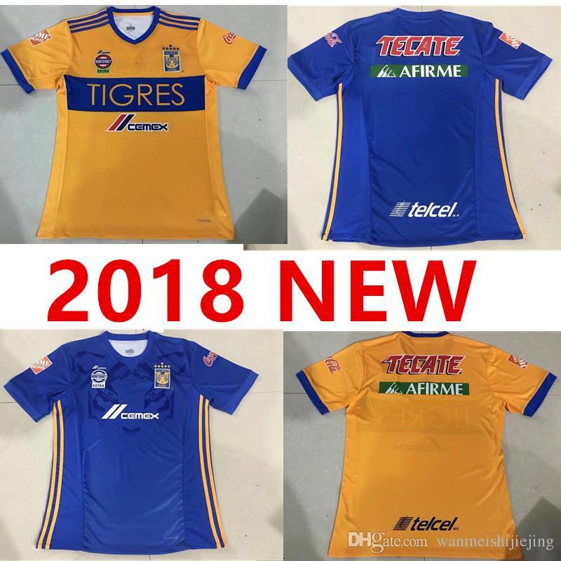 c30c14662 Thai18 19 Tigres UANL Soccer Jerseys GIGNAC Vargas Football Shirt ...