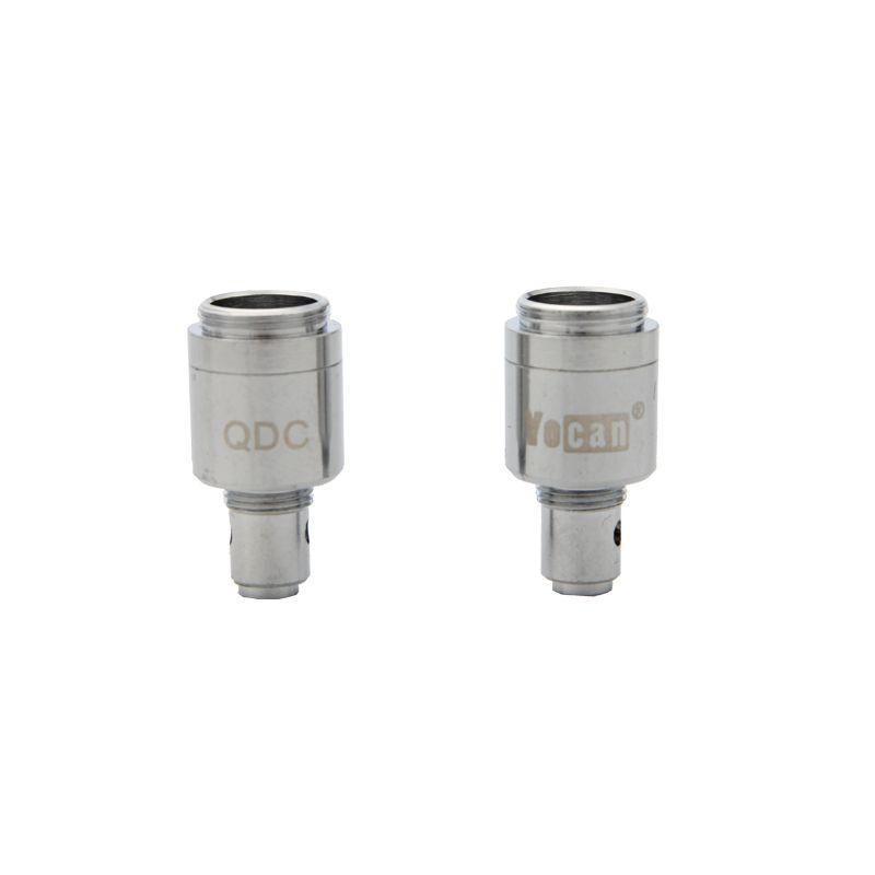 Auténtico Yocan Evolve Coil Head Quartz Dual Coil QDC Core Evaporador para E-Cigarette Evolve Cex Kit