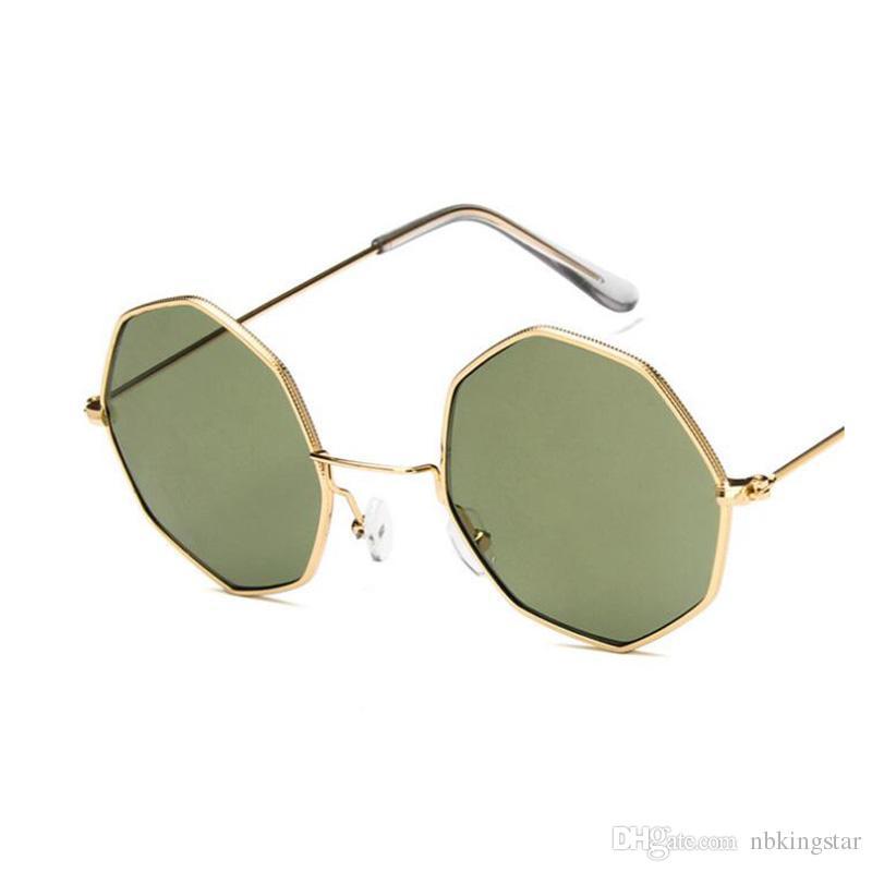 8f5135583c5 New Polygon Sunglasses Women Men Brand Designer Vintage Sunglasses ...