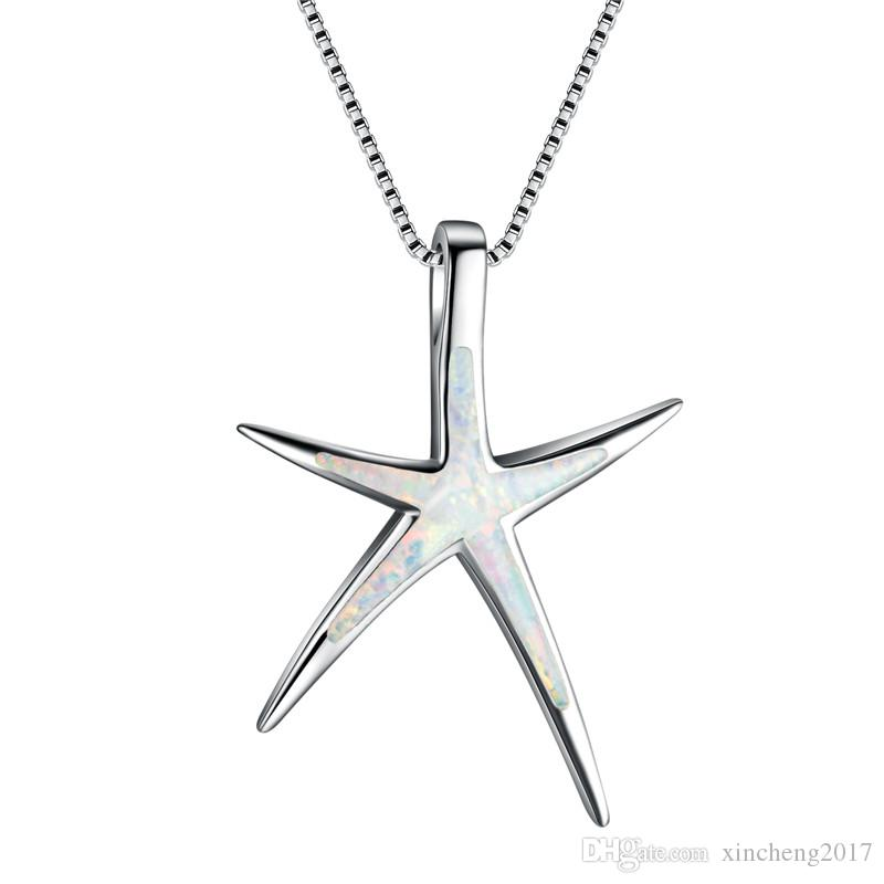 Wholesale 925 Sterling Sliver Filled Gold Starfish Pendant Necklace Jewellery & Watches