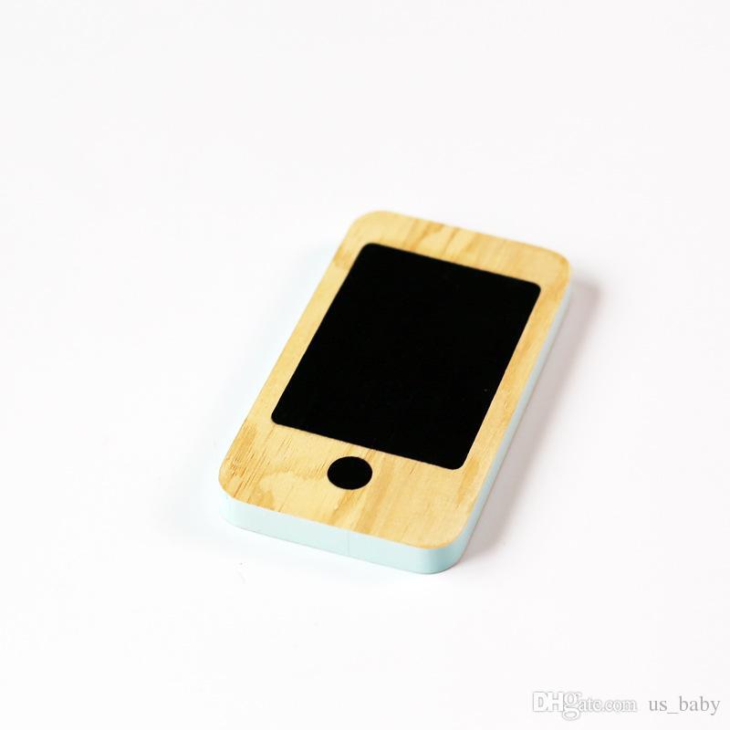 كيد الهاتف ألعاب خشبية الأطفال الشمال الرئيسية التماثيل المنمنمات في وقت مبكر رسالة الهاتف المحمول مجلس السبورة هدايا