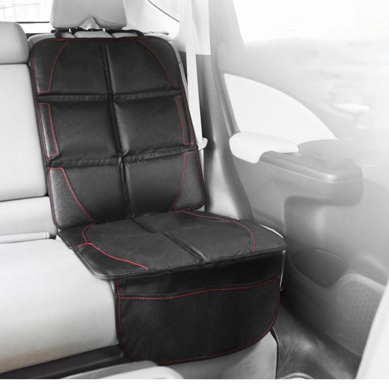 Acheter 123 48 Cm Noir Oxford Luxe Cuir PU Sige De Voiture Protecteur Auto Tapis Antidrapant Enfant Bb Enfants Housse Protection Pour Chaise