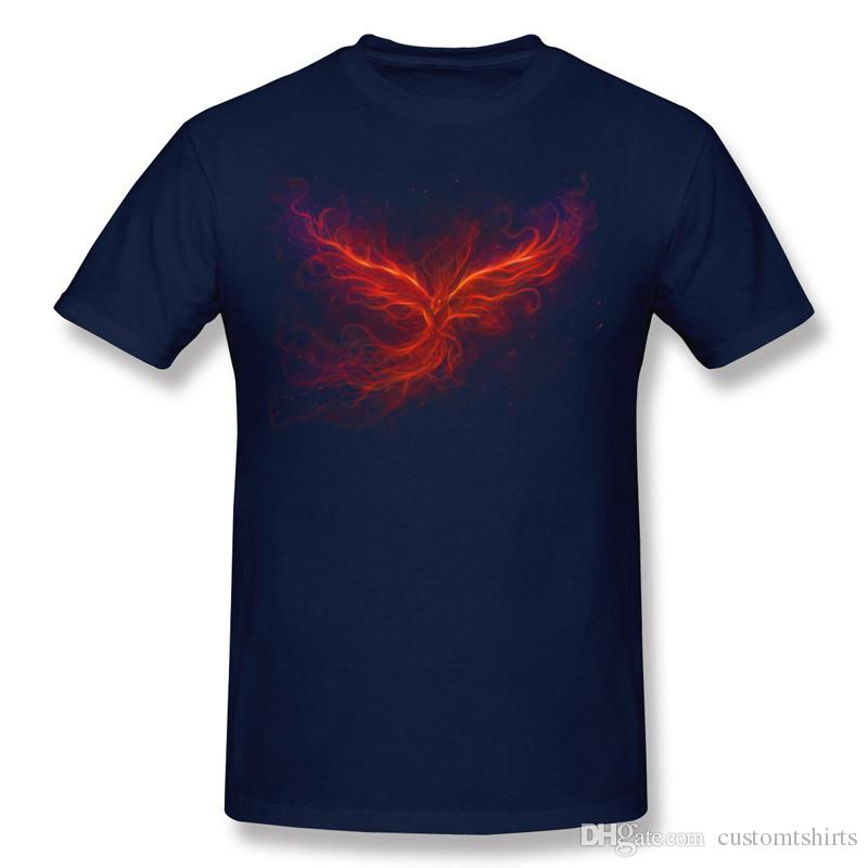 On Sale Hombre Percent Cotton The Phoenix Rise Tee-Shirts Hombre O-Neck Dark Green Short Sleeve T-Shirt Plus Size Personality Tee-Shirts