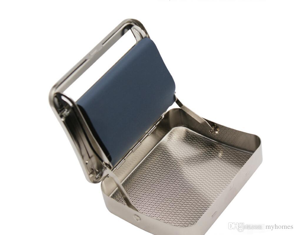 Renkler Buz Mavi Metal Sigara Durumda Moda Cömert 20 Adet Puro Kutusu Tutucu Narin Tütün Depolama Konteyner