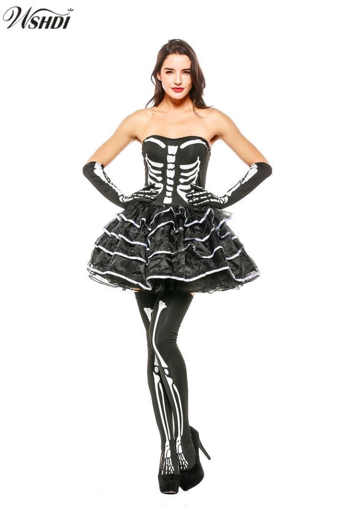 acheter adulte dames terreur crâne costume squelette sexy halloween