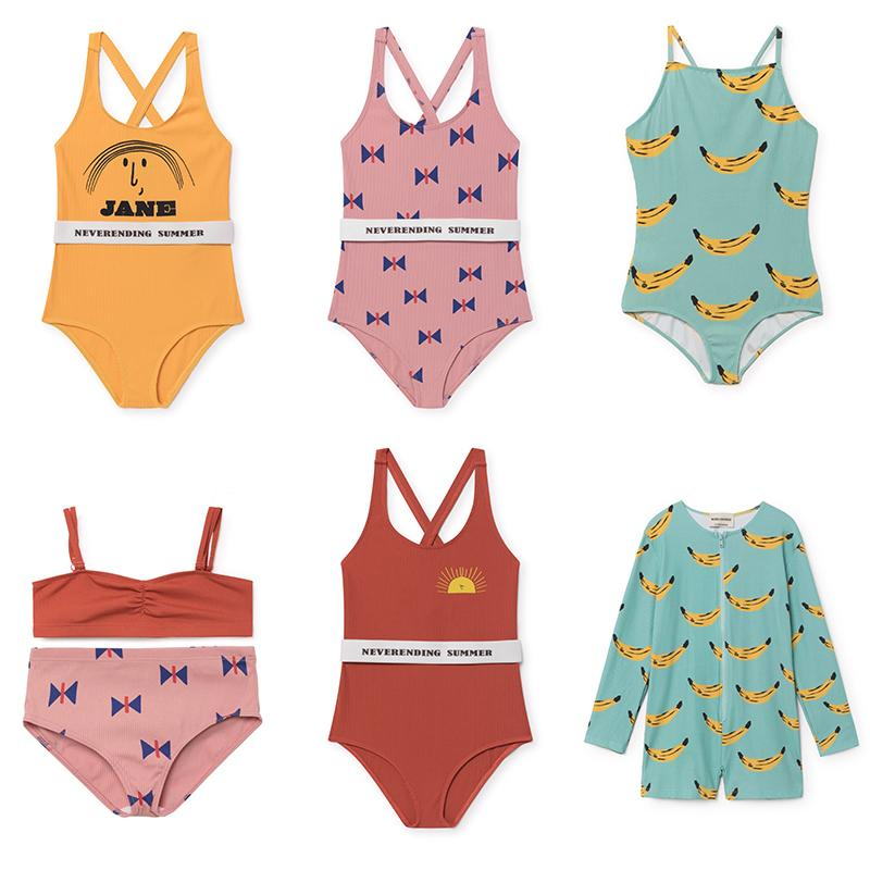 f46bfc83b95 2019 Kids Swimwear 2018 Summer Style Bobo Choses Girls Swimsuit Letter  Printed Bikini Short For Girls Vestidos Vetement Enfant Y1892707 From  Shenping02
