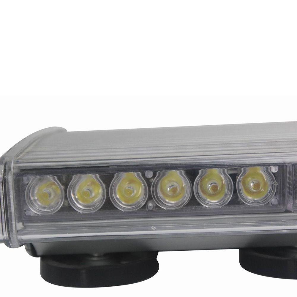 HEHEMM 48W LED Strobe Warning Light Magnetic Mounted Car Roof Flash Lamp for Automobile Truck Jeep 12V 24V