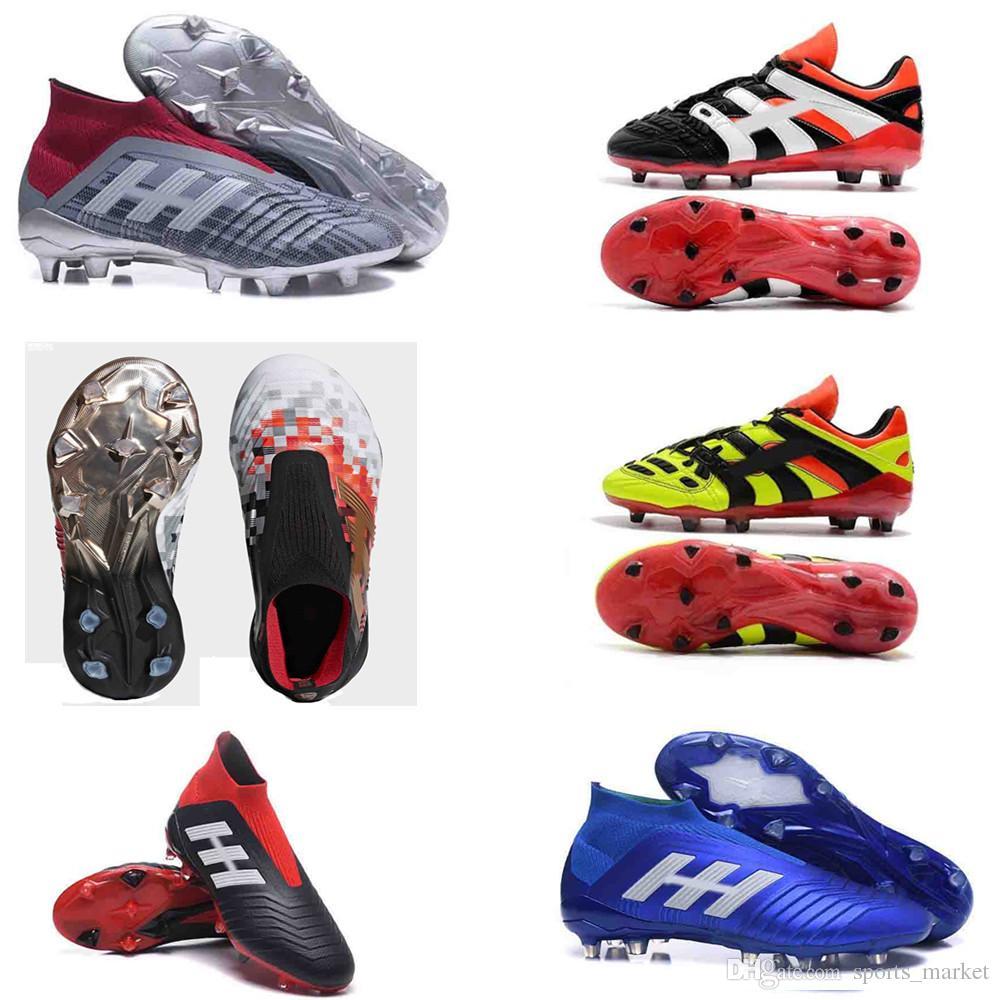 bce694d74d16f Compre Bota De Fútbol Juvenil Original Predator Acelerador Electricidad 18  + X Zapatos De Fútbol Pogba FG Kids PureControl Purechaos Tacos De Fútbol  Para ...