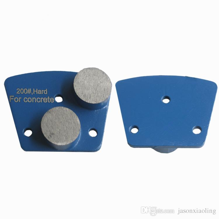 KD-A50 Metal Bond Diamond Grinding Shoes Diamond Grinding Disc with Two Round Segments for Concrete and Terrazzo Floor One Set
