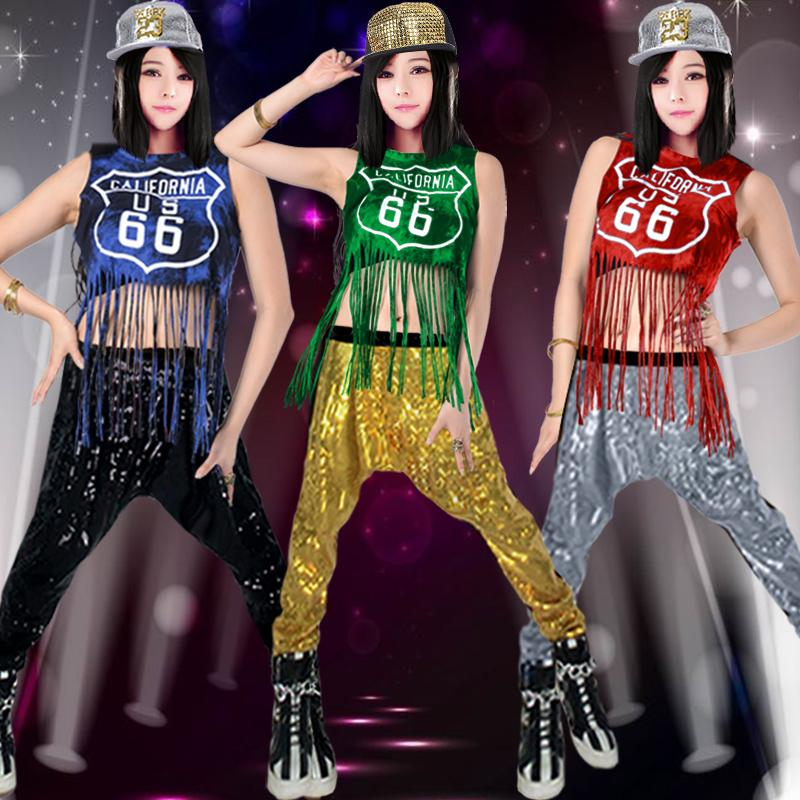 Compre Nuevo Traje De Baile Jazz Hip Hop Hip Hop Dance Borla Moderno Hiphop  Sparkle Pantalón A  57.74 Del Feixianke  733b643d174