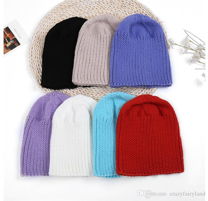2019 Hat Winter Knitted Women Soft Skullies Beanies Cotton Cute Black  Slouchy Cap For Ladies Xmas Gifts Hats From Crazyfairyland 8ef1a32752a