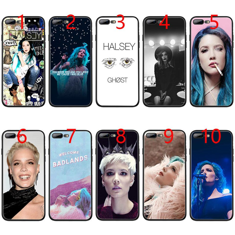 Halsey Colors Lyrics Soft Black TPU Phone Case for iPhone XS Max XR 6 6s 7  8 Plus 5 5s SE Cover