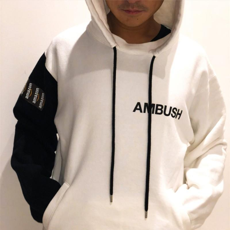 108cfdb5e798 Amazon X AMBUSH TAPED HOODIES Autumn Winter Young Hooded Couple Sweatshirt  Sweater Luxury Street Long Sleeve Pullover HFYMWY162 Jackets And Coats Mens  Denim ...