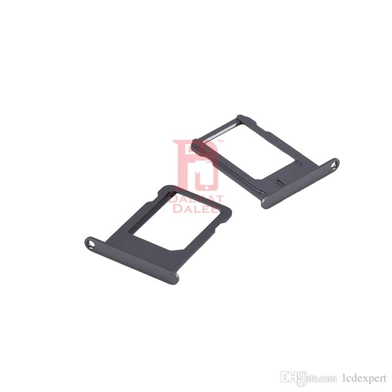 Nano SIM Card Slot Tray Holder Replacement Adapter Kit Fix for Iphone 5S Repair Spare Parts for iphone 5s Gray Gold Silver Color
