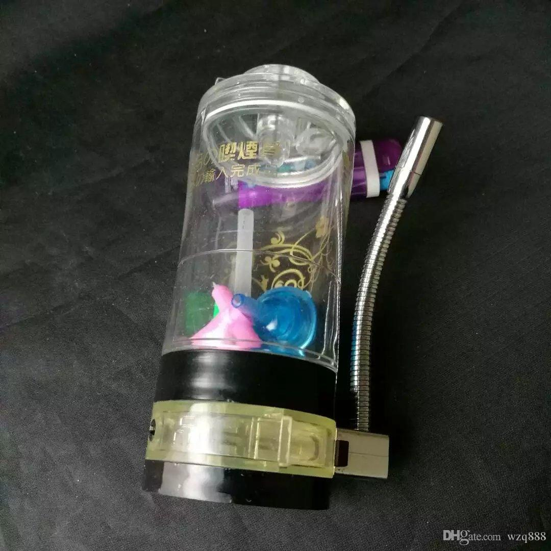 The new acrylic with alcohol lamp hookah Wholesale Glass bongs Oil Burner Glass Water Pipes Oil Rigs Smoking Free