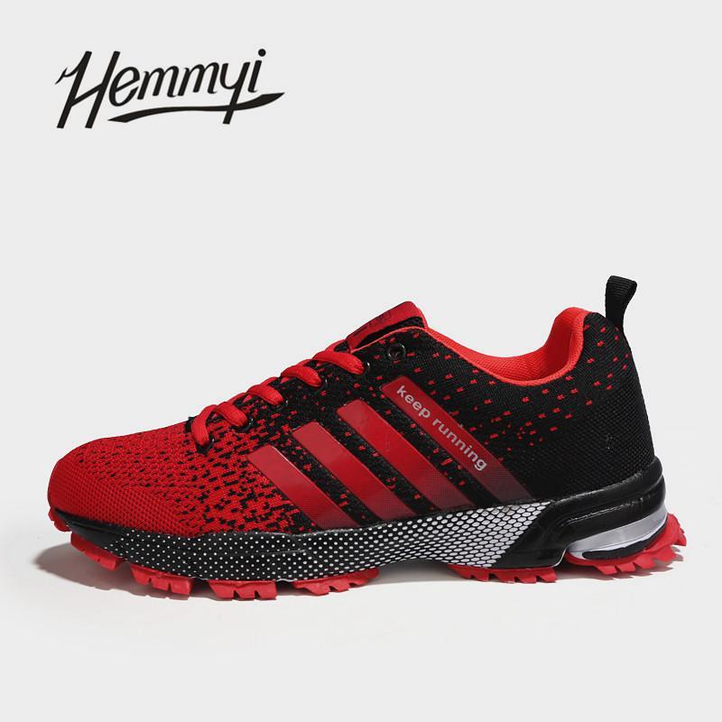 16059d67cf4b Acheter 2019 2018 Nouveau Respirant Hommes Sneakers Unisexe Couple  Chaussures Basket Femme Dur Résistant Tenis Feminino Mâle Chaussures Plus  La Taille 11 12 ...