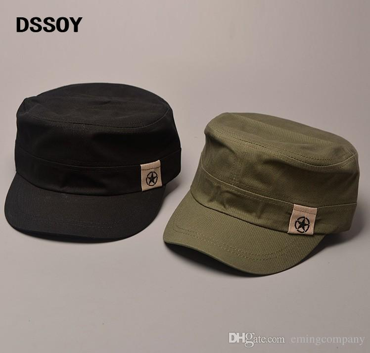 5cd8b0702b3 Designer Plain Cotton Military Star Hats With China Map Print Inside For  Men Women Summer Caps Black Army Green Navy Beige Brown Solid Color Cap  Rack Caps ...
