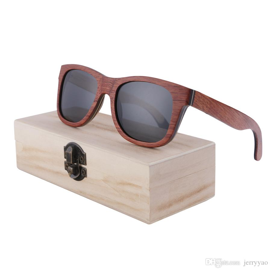 69bfe681aa Polarized Sunglasses Women Men Layered Skateboard Wooden Frame Square Style  Glasses For Ladies Eyewear With Bamboo Box Cheap Eyeglasses Online Sunglasses  At ...