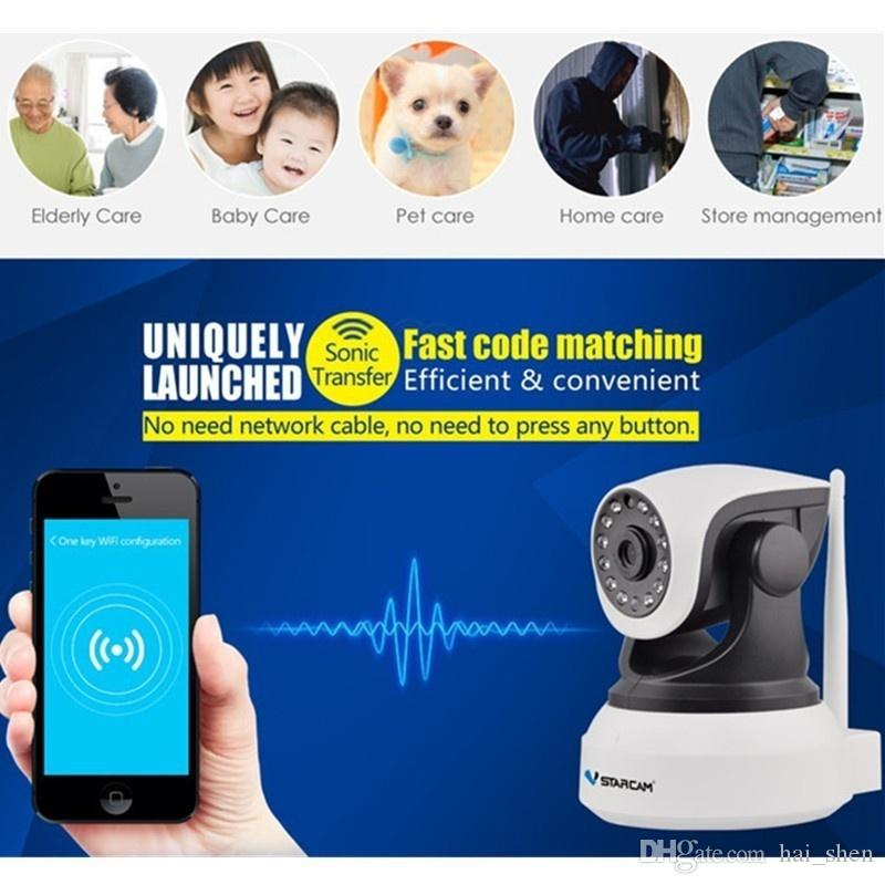 Vstarcam C7824wip Ip Camera Home Security Onvif 2.0 Hd 720p Wireless Camera Baby/pet Monitor Cctv Ip Ir Night Vision Wifi 64 Tf Card Whitee