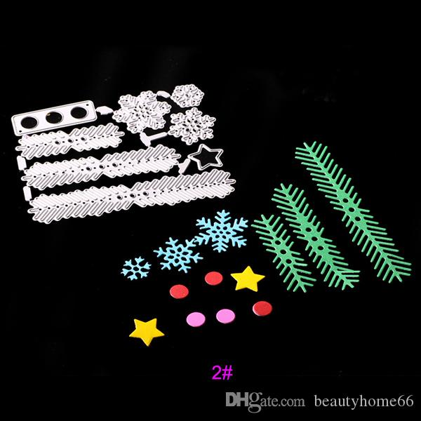 Cute Christmas Tree Flower Metal Cutting Dies Embossing Template Stencils for DIY Scrapbook Album Frame Photo Cards Decor Crafts 180