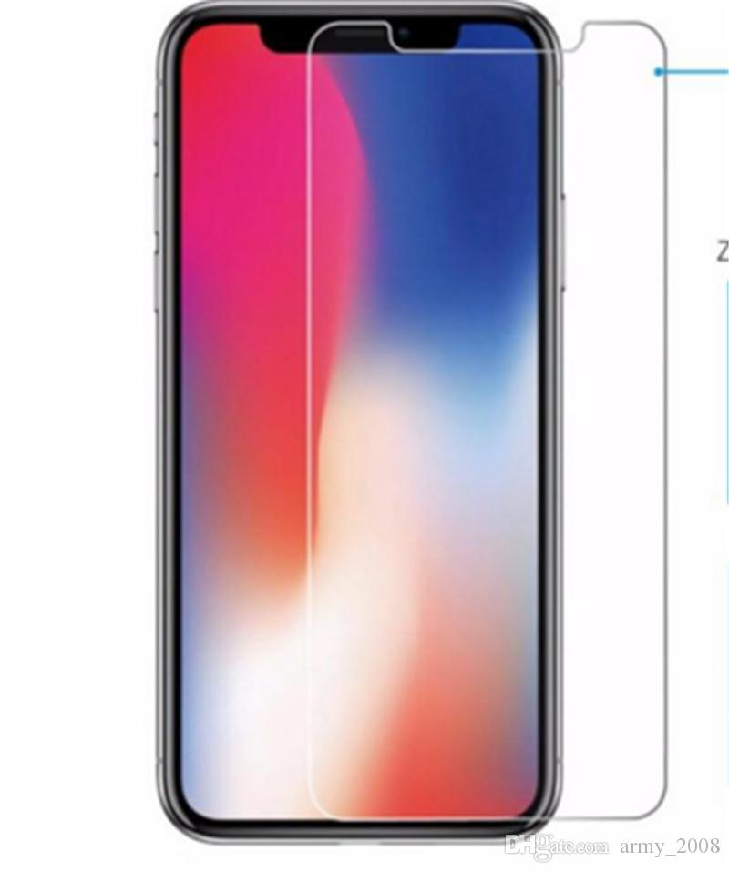Para iPhone X 8 Protector de pantalla de cristal templado para Iphone 7S Iphone X Edición Película 0.33mm 2.5D 9H Anti-shatter