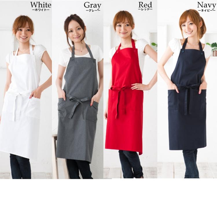 Home Hotel Cotton Korean Fashion Simple Cotton Aprons Coffee Shop Beauty Salon Restaurant Work Cloth Home Kitchen Apron