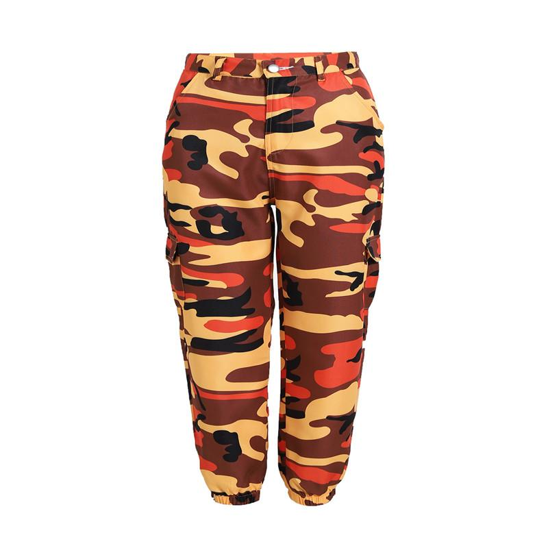 2534618cb8720 2019 Brand Fashion Designer Luxury Womens Camouflage Tooling Denim Casual  Pants Harem Pants Jogger Casual Army Red Pink Camo Trousers Sweatpants From  ...