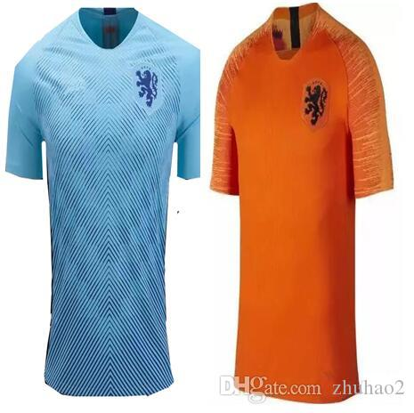 official photos 5020b 44b68 2018/19 Holland soccer jersey home orange netherlands national team JERSEY  memphis SNEIJDER 18 19 V.Persie Dutch football shirts AAA quality