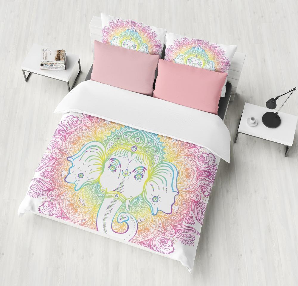 Biancheria Da Letto Outlet.Acquista Biancheria Da Letto Outlet Bohemian Elephant Bedding Set