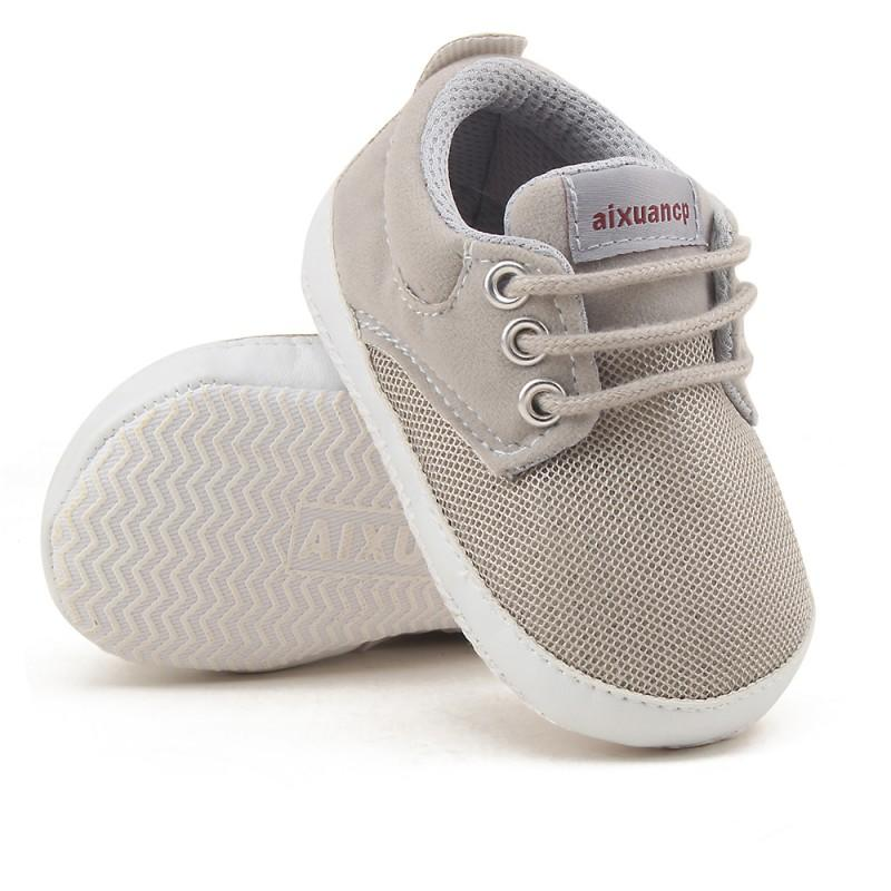 b6a01cce3058 2019 Newborn Baby Boy Shoes First Walkers Spring Autumn Baby Boy Sneakers  Soft Sole Shoes Infant Canvas Crib Solid Color 0 18 M From Vingner