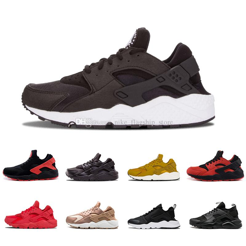 c7858933f501 2018 Cheap Air Huarache I 4.0 Running Shoes For Men Women Grey White Black  Gold Sneakers Huaraches Athletic Huraches Sport Shoes 36 45 Shoes Shop Free  Shoes ...