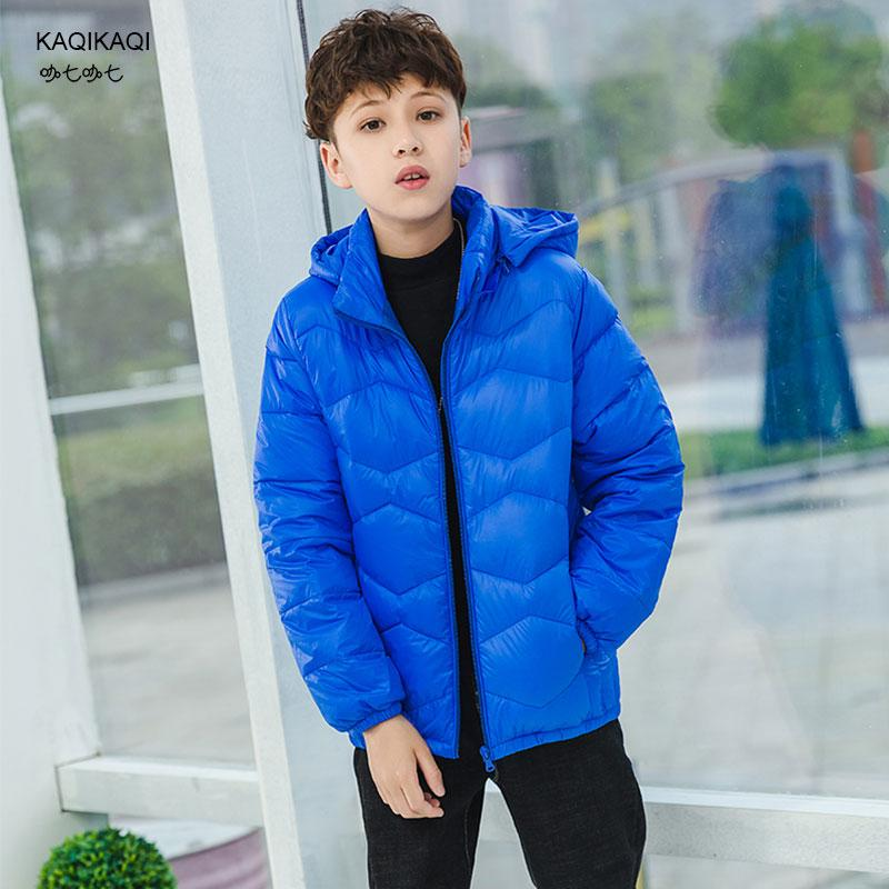 2018New down jacket big boy girl parkas kids down coats children outerwear jackets children's clothing for snow wear teens